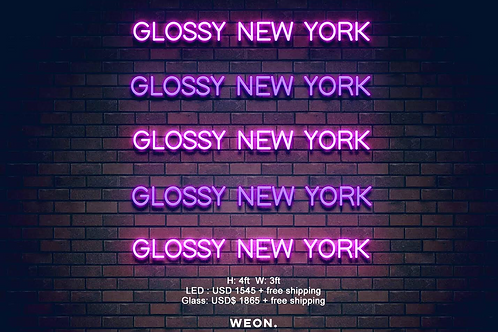Custom Neon Sign ( Glossy New York )