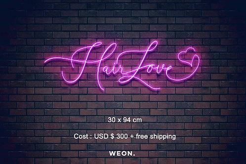 Custom Neon Sign ( Hairloveby Ko )