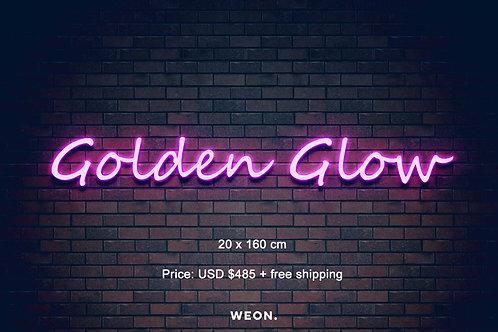 Custom Neon Sign ( Golden Glow )