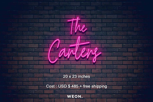 Custom Neon Sign ( Ashley Carter )