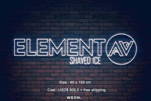 Custom Neon Sign ( ELEMENT SHAVED ICE )