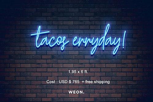 Custom Neon Sign (  El Mero Taco )