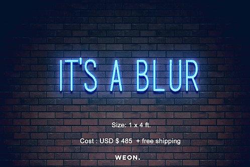 Custom Neon Sign (  blur bar )