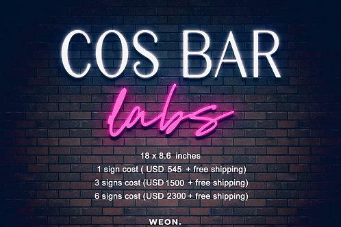 Custom Neon Sign ( COS BAR )