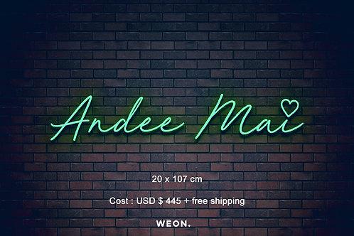 Custom Neon Sign ( Andee Mai )