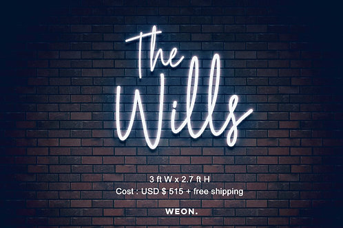 Custom Neon Sign ( The Wills )