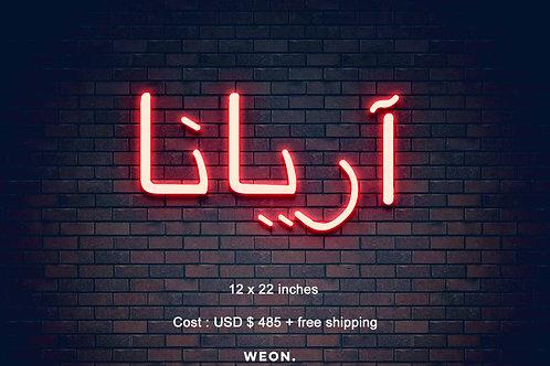 Custom Neon Sign ( Ariana Motazed )