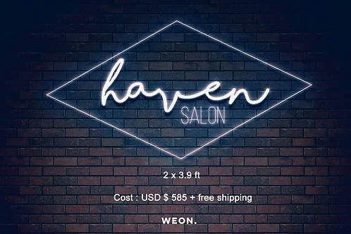 Custom Neon Sign (Haven Salon)