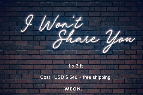 Custom Neon Sign ( Stephanie von Tesmar )