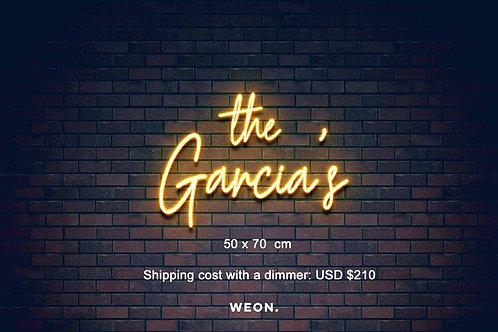 Custom Neon Sign (  Navia Cortes - shipping  )