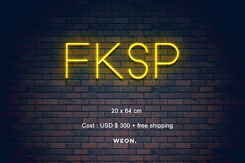 Custom Neon Sign ( Folake Kuye )