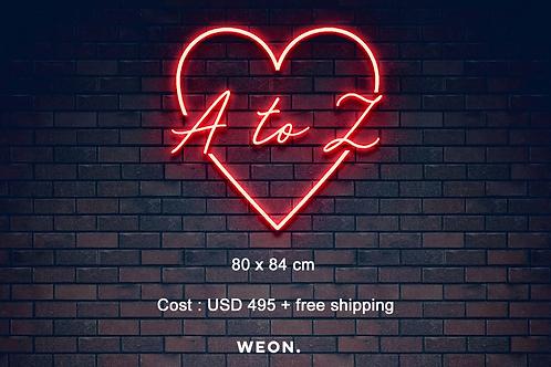 Custom Neon Sign (Amber Flamminio)