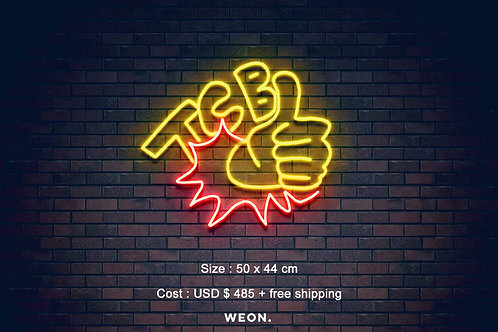 Custom Neon Sign ( Billiard Ball Benson )