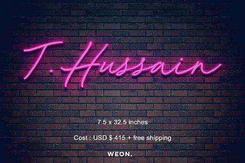 Custom Neon Sign ( Elham Fabe )