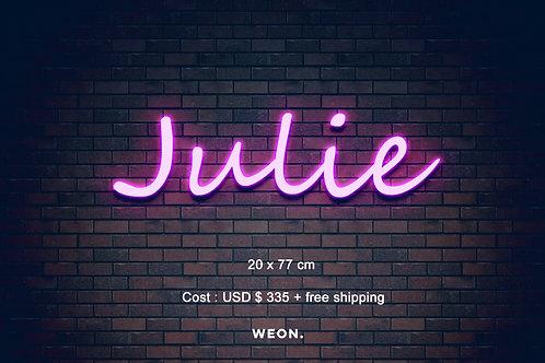 Custom Neon Sign (  Jennifer Loving  )
