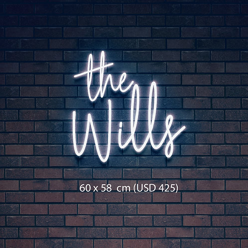 Custom Neon Sign  (The Wills)