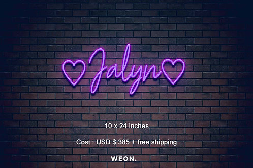 Custom Neon Sign ( Carolyn Kent )