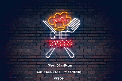 Custom Neon Sign ( Chef Totsss )