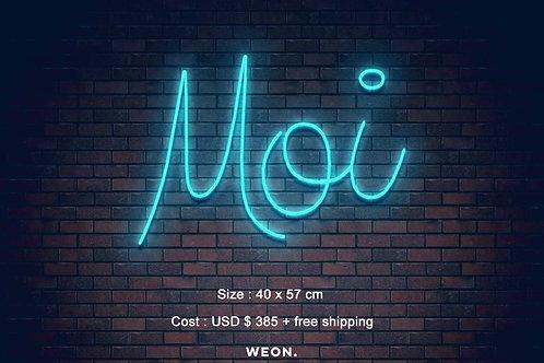 Custom Neon Sign ( Moi Lash )
