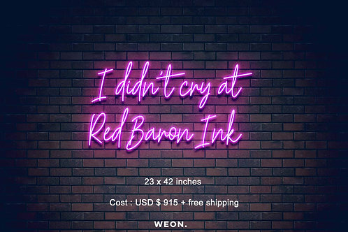 Custom Neon Sign ( Giselle Azcona-Lubbock  )