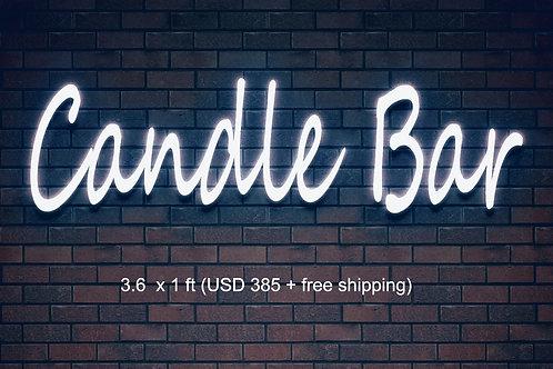 Custom Neon Sign   (Candle Bar)