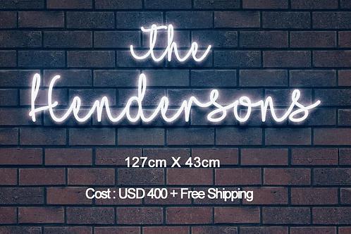 Custom Neon Sign (The Hendersons )