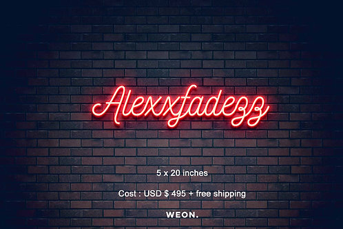 Custom Neon Sign ( Alex Nelson )