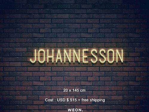 Custom Neon Sign ( Jaeden Johannesson )