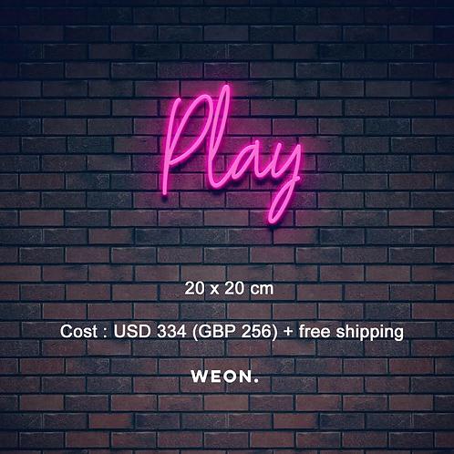 Custom Neon Sign (Play)