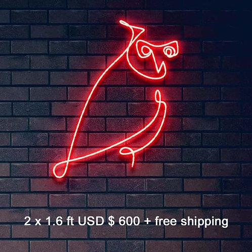 Custom Neon Sign ( the night owl )