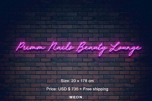 Custom Neon Sign (  primm.nails13 )