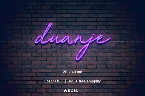 Custom Neon Sign ( Duanje Stowes )
