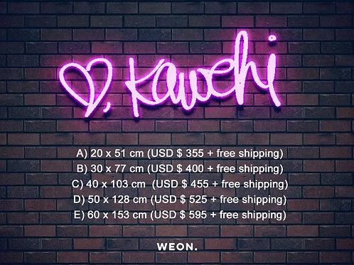 Custom Neon Sign ( Kawehi Hurley )