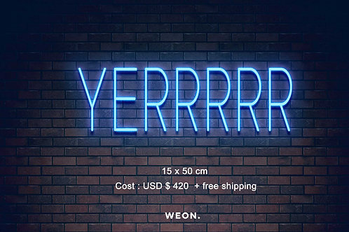 Custom Neon Sign ( Jerry )