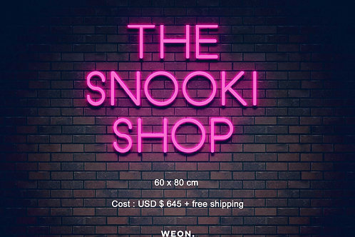 Custom Neon Sign ( The Snooki Shop )
