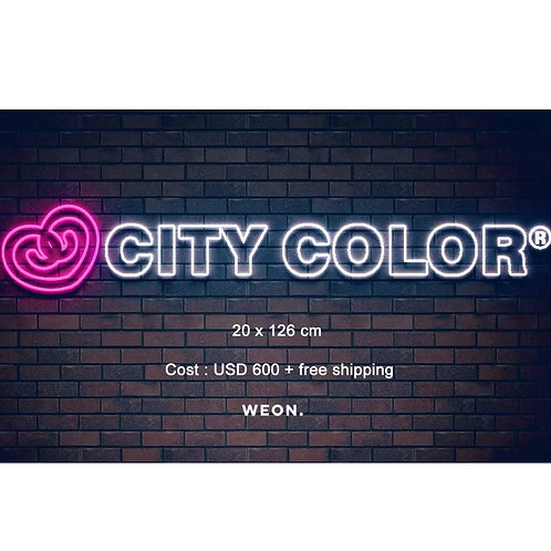 Custom Neon Sign ( CITY COLOR)