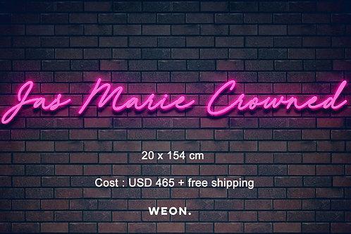 Custom Neon Sign (Jasmine Towers)