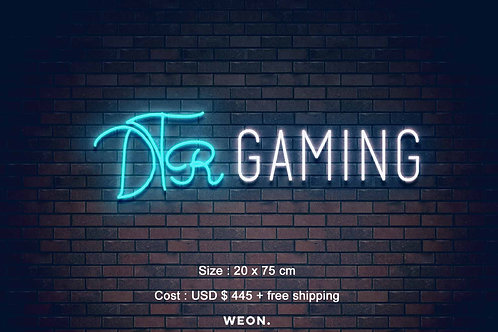 Custom Neon Sign ( DTR Gaming )
