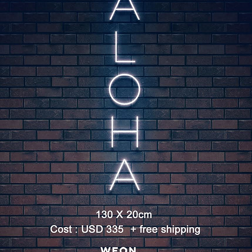 Custom Neon Sign (ALOHA)