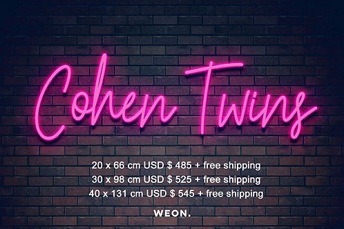 Custom Neon Sign ( Olivia Cohen 1)
