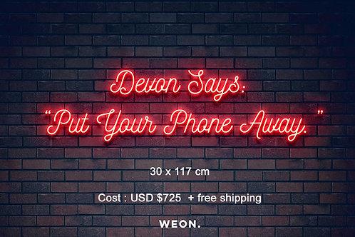 Custom Neon Sign ( Daniel Bush )