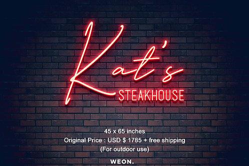 Custom Neon Sign ( Katherine Gilbert  )