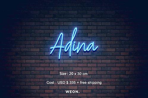 Custom Neon Sign ( Adina Bewley )