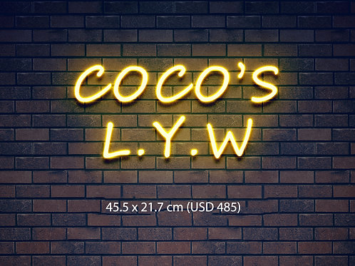 Custom Neon Sign (COCO'S L.Y.W)