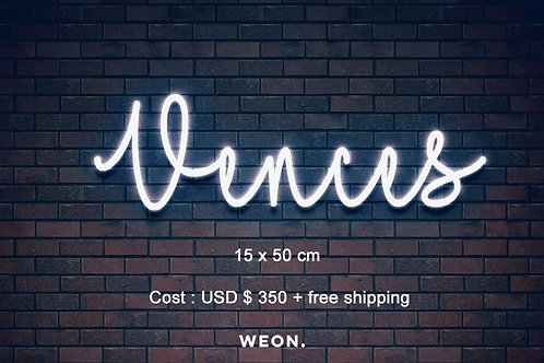 Custom Neon Sign ( Crystal Ponce )