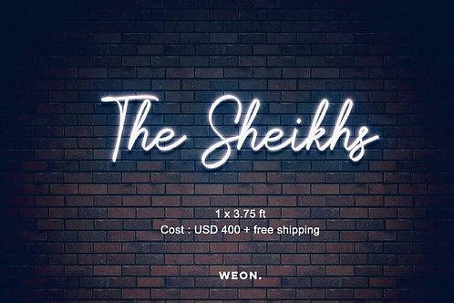 Custom Neon Sign ( Elizabeth Guzman - the sheikhs )