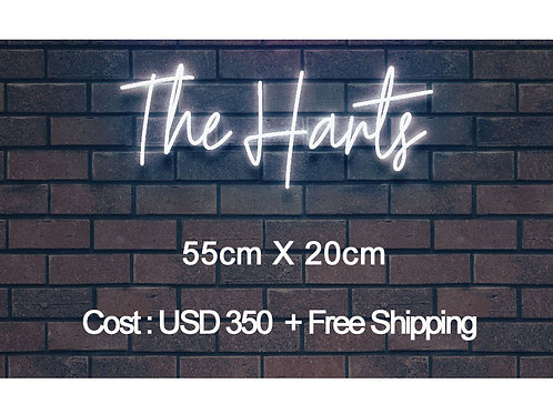 Custom Neon Sign ( The Harts )
