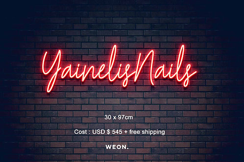 Custom Neon Sign (  Yainelis Nails )