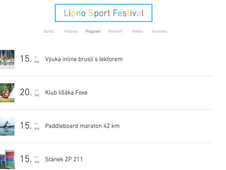 Lipno Sport Festival - program