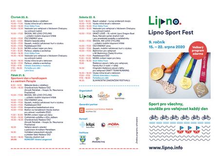 Program Lipno Sport Festivalu